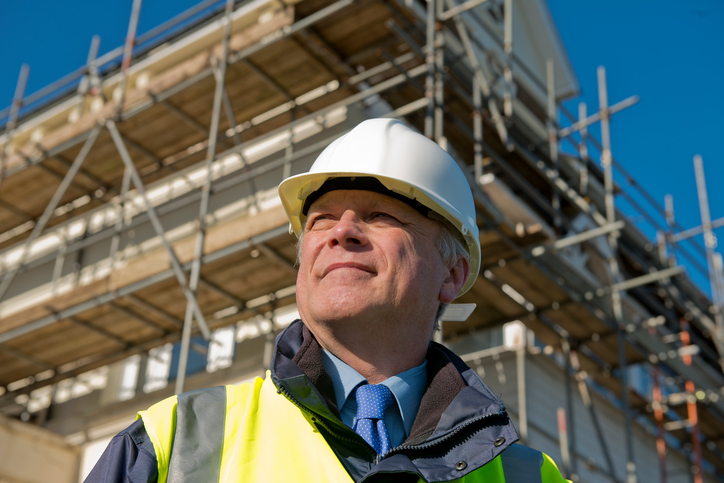 Who manages health and safety at a construction site?